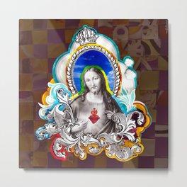 Sagrado Coração de Jesus (Sacred Heart) #1 Metal Print