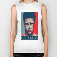 tyler durden Biker Tanks featuring Tyler Durden by Jason Vaughan