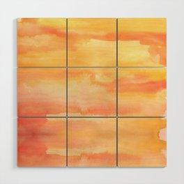 Apricot Sunset Wood Wall Art