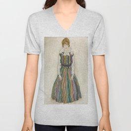 Egon Schiele - Portrait of Edith (the artist's wife) Unisex V-Neck