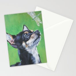 Chihuahua dog art portrait from an original painting by L.A.Shepard Stationery Cards