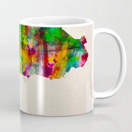 Burkina Faso Map in Watercolor Coffee Mug