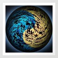 arrakis Art Prints featuring New Arrakis by Fringeman