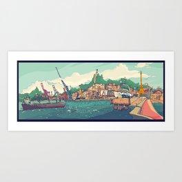Neboas de Vigo Art Print