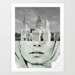 Der Traum von der Stadt Art Print