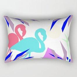 Flamingo Jungle Blues Rectangular Pillow