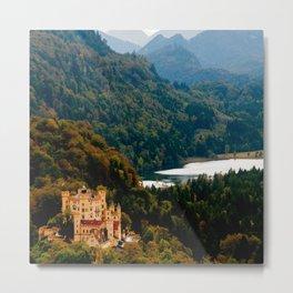 Castle under mountains Metal Print