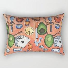 Object Pattern Rectangular Pillow