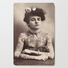 Vintage Photo of Tattooed Woman Maud Wagner, 1911 Cutting Board