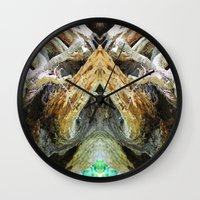 tree of life Wall Clocks featuring Tree Life by Jenna Elise Designs