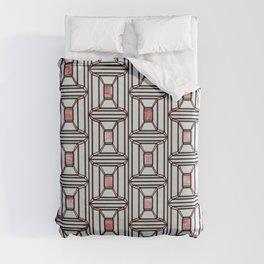 Rosé Square Pattern Duvet Cover