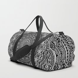 Zen Black and white mandala Sophisticated ornament Duffle Bag