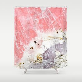 GOLD FLECKED ROSE QUARTZ Shower Curtain