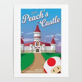 Peach's Castle (Super Mario) Travel Poster Poster