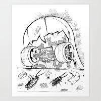 "skate Art Prints featuring ""Skate"" by Jorge Daszkal"