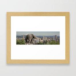 Komodo Attack Framed Art Print