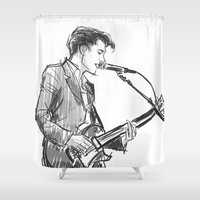 alex turner Shower Curtains featuring alex turner [4] by roanne Q