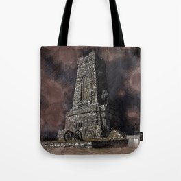 Shipka tower Bulgaria Tote Bag