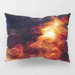 Fiery gAlAXy Indigo Stars Pillow Sham