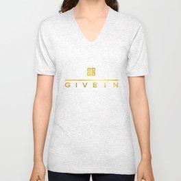 Give In Unisex V-Neck