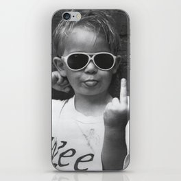 Boy Sticking His Tongue Out iPhone Skin