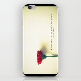 I must have flowers, always, and always - Claude Monet  iPhone Skin