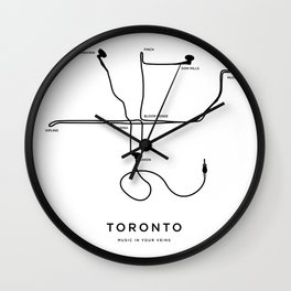 Music in your veins Wall Clock