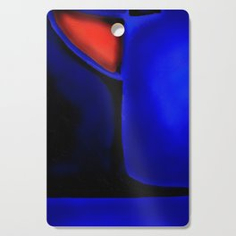 Abstraction in Lapis and Red Cutting Board
