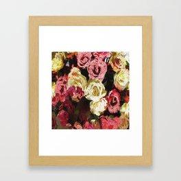 Fuzzy floral Framed Art Print