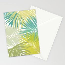 Fronds in Yellow and Blue Stationery Cards
