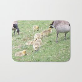 Baby Canadian Geese, Wild Geese, Animals in the Wild Bath Mat