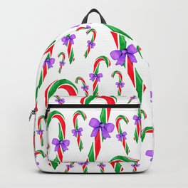 Festive candy cane pattern Backpack