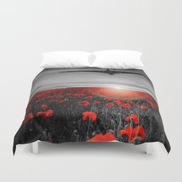 Poppy Vulcan's Isolated Duvet Cover