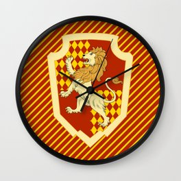 HP Striped Gryffindor house crest Wall Clock