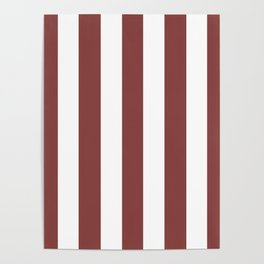 Brandy purple -  solid color - white vertical lines pattern Poster