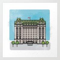 Hotel Fort Garry, Winnipeg Art Print