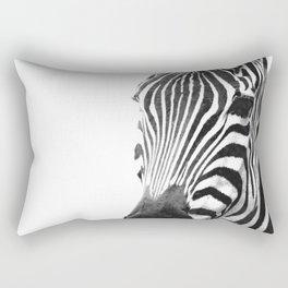 Black and white zebra illustration Rectangular Pillow