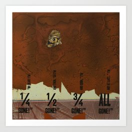 Breadcrumbs: Gingerbread Man Art Print