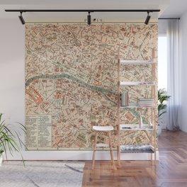 Vintage Map of Paris Wall Mural