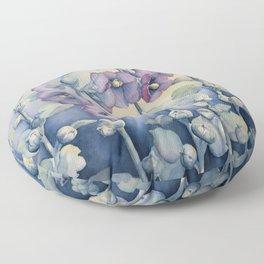 Hollyhocks Floor Pillow