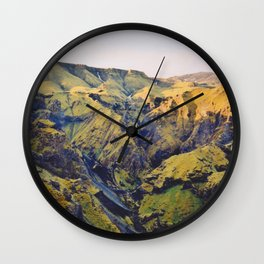 Sunrise on Thórsmörk Wall Clock