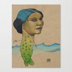 LONELY MERMAID Canvas Print