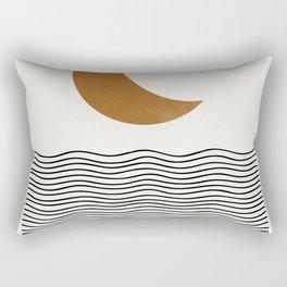 Moon by the ocean Rectangular Pillow