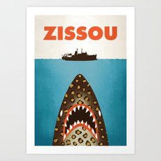 Zissou The Life Aquatic Art Print