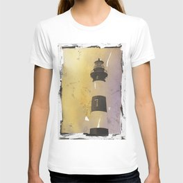 Bodie Island lighthouse at sunset in the Outer Banks (OBX) of North T-shirt