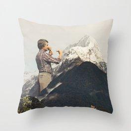 Majestic Sculpture - Snow Mountain Throw Pillow