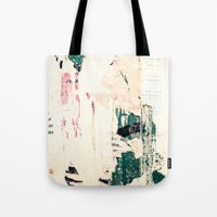 posters Tote Bags featuring Posters by Patterns and Textures