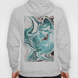 Turquoise Marble Swirl Hoody