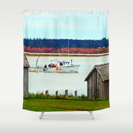 PEI Fun and Water Shower Curtain