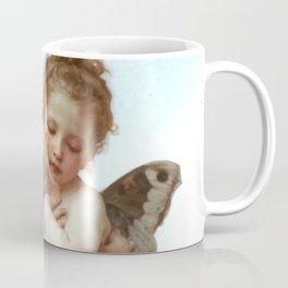 """William-Adolphe Bouguereau """"First Kiss (L'Amour et Psyché, enfants)"""" Coffee Mug"""